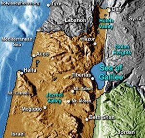 Peta Lokasi Tiberias