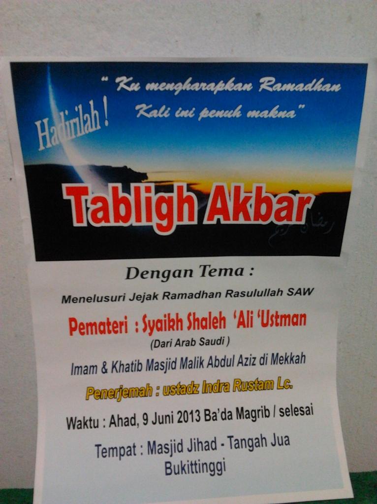 """Tabligh Akbar : """" Syaikh Shaleh 'Ali 'Utsman"""""""